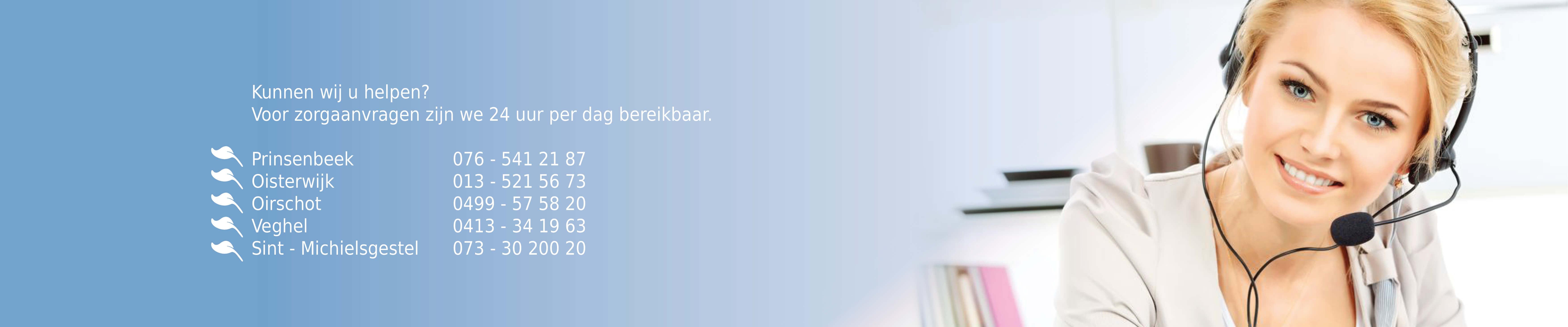 Telefoonnummers Zorgservice Brabant
